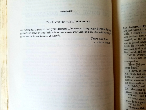 Baskervilles dedication