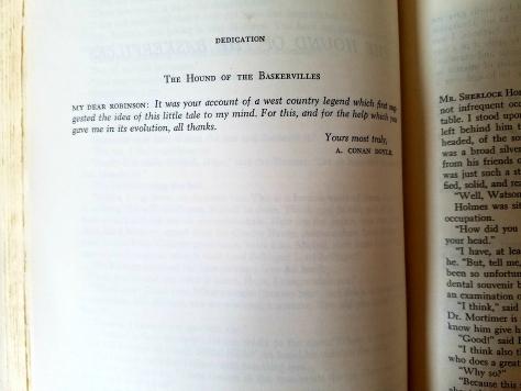 Baskervilles dedication